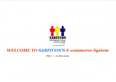 Sabitcon E-Commerce System